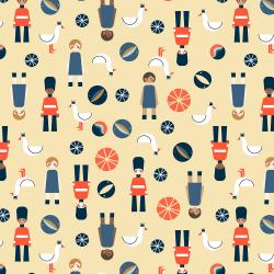 RJ2601-SH1 London is Calling - Afternoon Tea - Shortcake Fabric