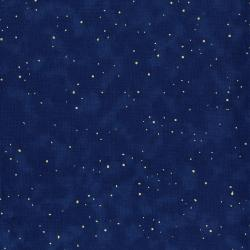 2792-014 Merry, Berry, & Bright - Flurries - Midnight Sky Metallic Fabric