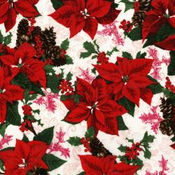 3151-001 Merry, Berry, & Bright - Holiday Sparkle - Radiant Noel Metallic Fabric