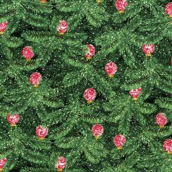 3154-001 Merry, Berry, & Bright - Brilliant Baubles - Radiant Evergreen Metallic Fabric