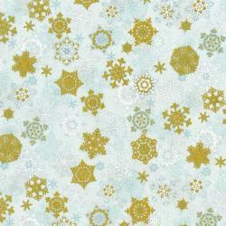 3160-003 Merry, Berry, & Bright - Snow Glisten - Crystal Metallic Fabric