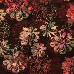 RJ1000-HA1B Nature Walk - Fall Floral - Harvest Batik Fabric