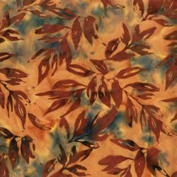 RJ1001-MA6B Nature Walk - Leaves - Maple Batik Fabric