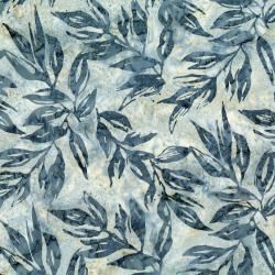 RJ1001-PE2B Nature Walk - Leaves - Pebble Batik Fabric