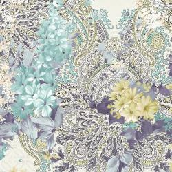 RJ2902-FR2D Peacock Walk - Pure Paisley - Frost Digiprint Fabric