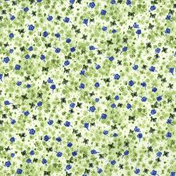 3519-003 Petal Park - Floating Floret - Grass Fabric