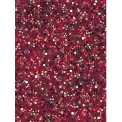RJ407-CR1D Pineview - Berry Bliss - Cranberry Digiprint Fabric