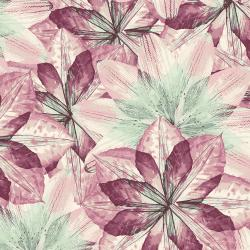 RJ2400-MU3 Pressed Floral - Kaleidoscope Floral - Mulberry Fabric