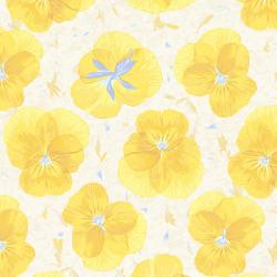 RJ2401-SU2 Pressed Floral - Pansy Paper - Sunshine Fabric