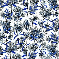3277-001 Rose Hutch - Porcelain Garden - Delft Fabric