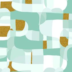 RJ2800-MI3M Shiny Objects - Glitz and Glamour - Abstract - Mint Metallic Fabric