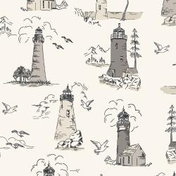 RJ2300-SA3 Smooth Seas - Lighthouse - Sand Fabric
