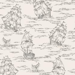 RJ2301-AS3 Smooth Seas - Voyage - Ash Fabric