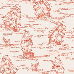 RJ2301-RE2 Smooth Seas - Voyage - Red Fabric