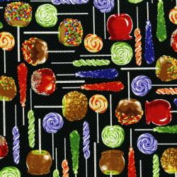 3108-001 Spooky Snacks - Sticky Situation - Midnight Fabric