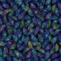 3631-001 Starlight & Splendor - Fine Feathers - Moonlit Digiprint Fabric