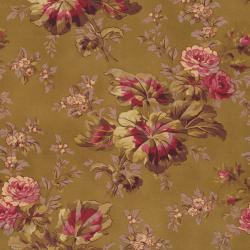 2467-002 Esprit Maison - Large Floral - Gold Fabric