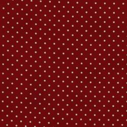 0016-001 Home Essentials - Dots - Red/Cream Fabric