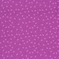 2293-004 Boutique Brights - Triangle & Dots - Purple Fabric