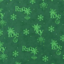 2736-002 Christmas Wishes - Wrapping Paper - Evergreen Fabric