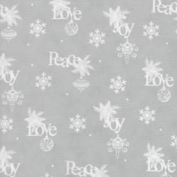 2736-003 Christmas Wishes - Wrapping Paper - Mist Fabric