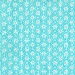 2738-004 Christmas Wishes - Snowfall - Morning Sky Fabric