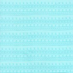 2637-003 First Words - Stripe - Aqua Fabric