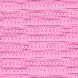 2637-004 First Words - Stripe - Pink Fabric