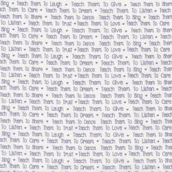 2639-001 First Words - News Print - Cream/Gray Fabric