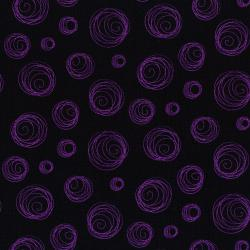 3126-003 Happy Owl-O-Ween - Ectoplasm Rings - Halloween Haze Purple Fabric
