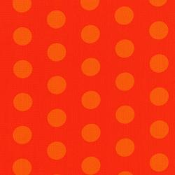 3127-001 Happy Owl-O-Ween - Big Ol Dots - Punkin Orange Fabric