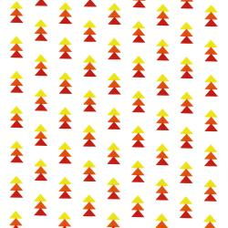 3331-002 Pow Wow Wow! - Stack Triangles - Red Fabric