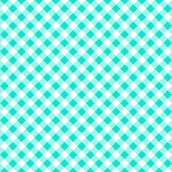 3622-001 Retro Road Trip - Gingham - Aqua Fabric