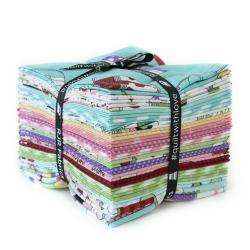 9653-677 Retro Road Trip Fat Quarters - Bundle