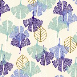 TS101-BI3 Happy Day - Leaf - Bisque Fabric