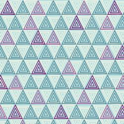 TS102-TU3 Happy Day - Triangle - Turquoise Fabric