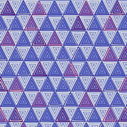 TS102-VB2 Happy Day - Triangle - Violet Blue Fabric