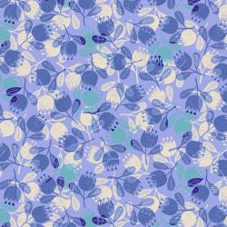 TS103-PE3 Happy Day - Flower - Periwinkle Fabric