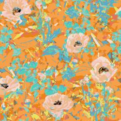 VF400-OR2 Wild Acres - Poppy - Orange Fabric
