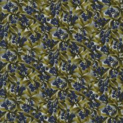 2304-002 Autumn Romance - Autumn Berries - Blue/Green Fabric