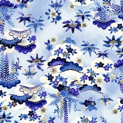 2701-001 Indigo Essence - Dawn - Blue Fabric