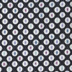 2703-001 Indigo Essence - Shiburi Dot - Black Fabric