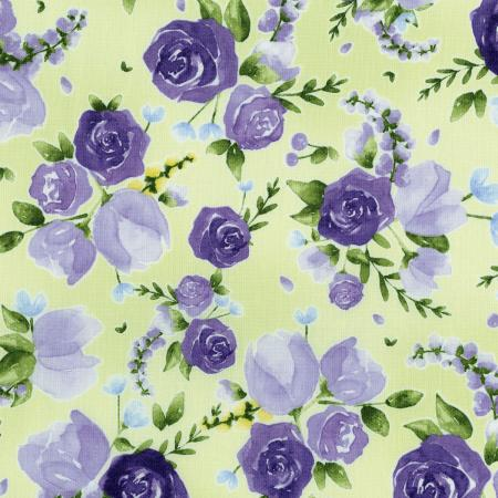 3293-002 June\'s Cottage - Prized Roses - Meadow Fabric