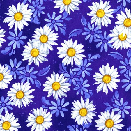 2944-001 Daisy Blue - Daisy Dance - Delft Fabric
