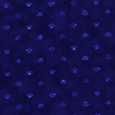 2952-002 Daisy Blue - Hand Made Hearts - Delft Fabric