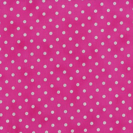 3164-012 Shiny Objects - Sweet Somethings - Spot On - Raspberry Metallic Fabric