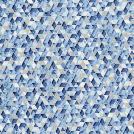 3534-001 Shiny Objects - Sweet Somethings - Sugar Crystal - Blueberry Metallic Fabric