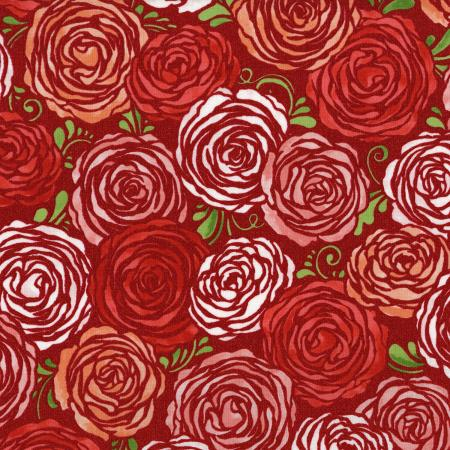 3372-001 Sugar Berry - Candied Roses - Radiant Berry Metallic Fabric