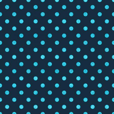 FF102-NA16M Shiny Objects - Spot On - Navy Metallic Fabric