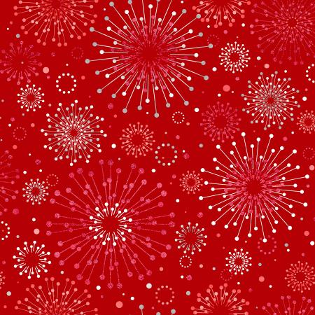 FF400-CR2M Shiny Objects - Holiday Twinkle 2 - Sparklers - Cranberry Metallic Fabric
